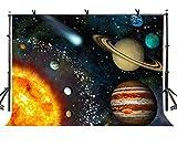 AdaCrazy 10x7ft Hermoso Sistema Solar Telón de Fondo Hermoso Sistema Solar Ciencia Fotografía de fantasía Fotografía de Fondo y Estudio Telón de Fondo Apoyos LYNAN192
