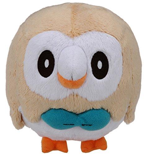 Pokemon Center Original Plush Doll Bauz Rowlet (Pokemon Sun & Moon) Plüschtiere 15cm -