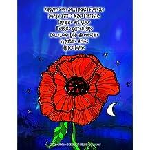 Papaveri fiori della pianta floreale Disegni fatti a mano Fantastic Imparare Art Style Tessuto Surrealismo Collezione Libri da colorare by Nature Artist Grace Divine