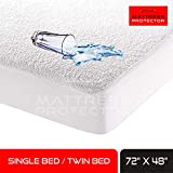 Mattress Protector Bamboo Waterproof Bed Protector Mattress Topper for Twin/Single Bed