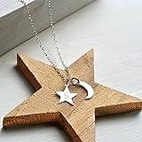 Personalisierter kleiner Goldmond und erste Stern-Halskette