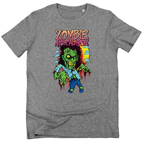 Pushertees-Store - T-Shirt Herren Grey Melange - Zombie -