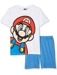 Super Mario Bros Chicos Pijama mangas cortas - Blanco