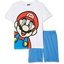 Super Mario Bros Garçon Pyjama court - blanc
