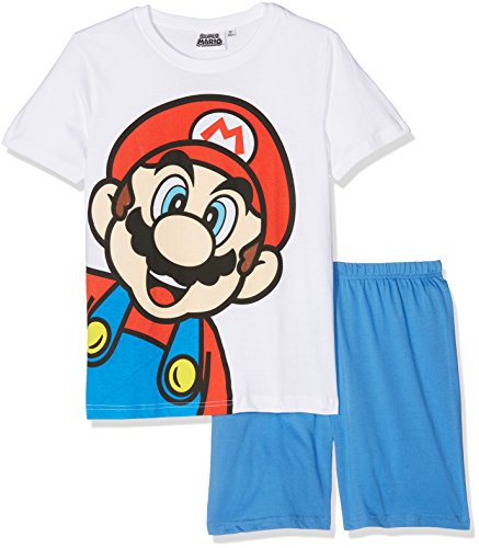 Super Mario Bros Chicos Pijama mangas cortas - Blanco - 140