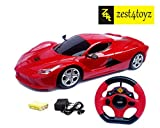 #7: Zest 4 Toyz Assorted Steering Remote Control Racing Toy Car, Multi Color