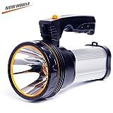 ROMER LED Rechargeable Handheld Searchlight High-power Super Bright 9000 MA 6000 LUMENS CREE Tactique Spotlight Torche Lanterne Flashlight ( argenté)