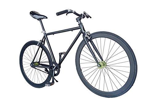 Wizard Industry Helliot Soho 5303 - Bicicleta fixie, cuadro de acero, frenos V-Brake, horquilla acero y ruedas de 26', color negro y naranja