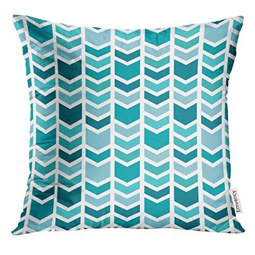 Cupsbags Throw Pillow Cover Blue Menswear Geometric Chevron -