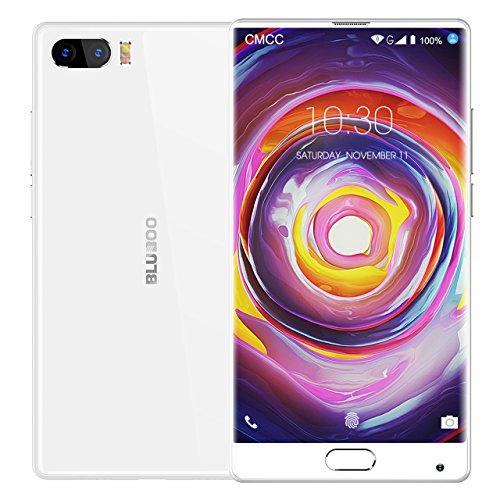 BLUBOO® S1 4G LTE Cat6 Smartphone Android 7.0 Nougat 5.5 inch [Vollbild - Full Screen], 4GB RAM 64GB ROM, 5.0MP + 13.0MP Megapixel Kamera, Type-C, 3500mAh Batterie 4.4V - [Weiß] S1 Prozessor Dual