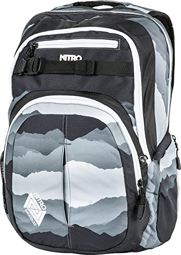 Nitro Snowboards Rucksack Chase, Mountains Black / White, 51 x 37 x...