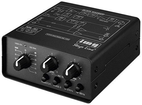 IMG Stage Line MPA-102 1-Kanal Low-Noise Mikrofon-Vorverstärker schwarz