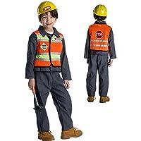 Dress Up America - Costume Operaio edile per bambini - Età 3-4 (Vita 5f4751e4f632