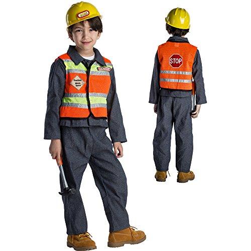 Kostüm Bauarbeiter Kinder - Dress Up America Kinder Bauarbeiter Kostüm Outfit