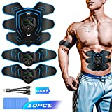 Byroras Electroestimulador Muscular Abdominales,EMS Estimulador Muscular,USB...