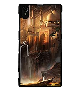 ColourCraft Beautiful Castle Design Back Case Cover for SONY XPERIA Z1