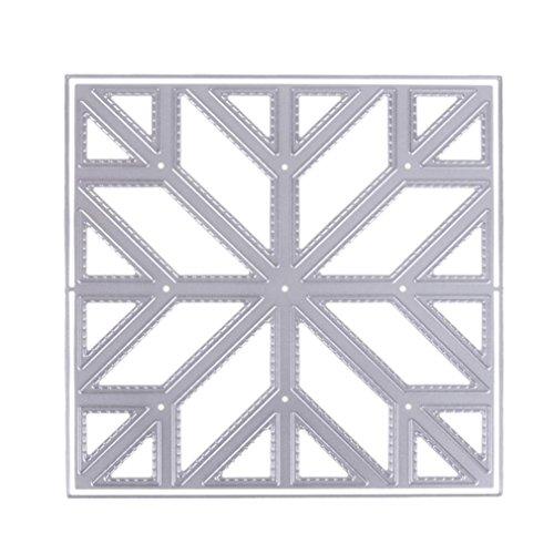 rbis Design Metall schneiden stirbt Schablonen Scrapbooking, Silber, B ()