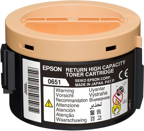 Preisvergleich Produktbild Epson C13S050651 AL-M1400 Tonerkartusche schwarz hohe Kapazität 2.2K Return Program