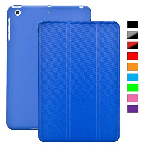 Cover iPad Mini 4 - KHOMO Custodia Blu Scuro Doppia Smart Cover piú Back Cover Dual Case Ultra Sottile e Leggera con Supporto per il Nuovo Apple iPad MINI 4
