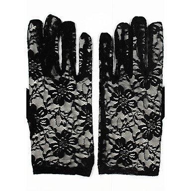 Handgelenk Länge Brauthandschuhe (ZHANG29 Spitze Handgelenk-Länge Handschuh Brauthandschuhe Party/Abendhandschuhe with Stickerei)