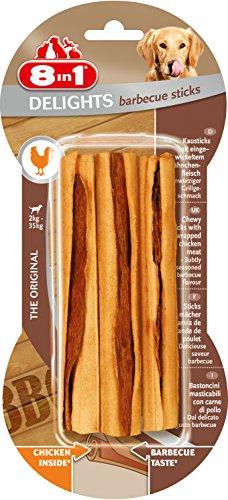 8in1 Delights Barbecue BBQ Kausticks (gesunder Kausnack für Hunde von 2 bis 35 kg, hochwertiges gedrehtes Hähnchenfleisch, geräuchert für feinwürzigen Grillgeschmack), 6er Pack (6 x 75 g) - 4