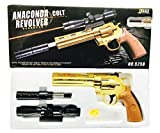#6: Babygo James Bond Golden Revolver Toy Gun With Extra 52 Normal Bullets With 150 Soft Non Harming Bullets And Laser Light