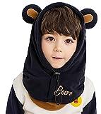 Chilsuessy Kinder Winter Schnee Hüte Skimütze Schalmütze Schlupfmütze Sturmhaube Schalmütze für Jungen und Mädchen, Dunkelblau, 52cm