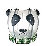 Jiasj Trampoline Petit avec Filet de sécurité et Jupe Motif Panda pour Enfants, diamètre 140 cm Capacité de Charge 150 kg