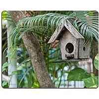 Luxlady Mousepads a una casetta per uccellini in legno, decorazione di rottami giardino immagine 19593821 Art personalizzato portatile-Tappetino per mouse
