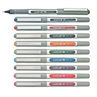 Uni-Ball EYE UB-157 Rollerball Pen 0.7mm Ball [Pack of 10] One of each colour