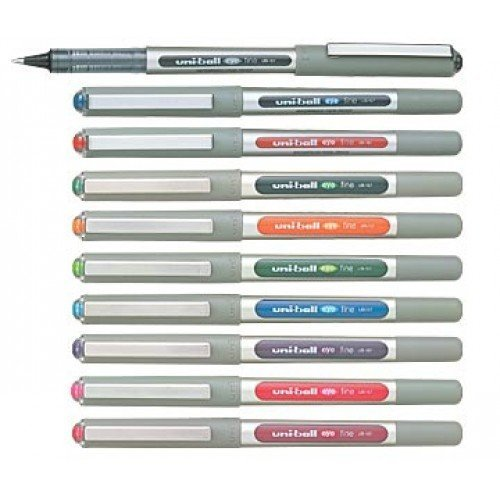 Uni-Ball EYE UB-157 Rollerball Pen Medium 0.7mm Ball [Pack of 10] One of each colour