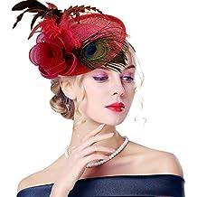Edith qi Mujer Sombreros Fascinators 3aab7ba24be
