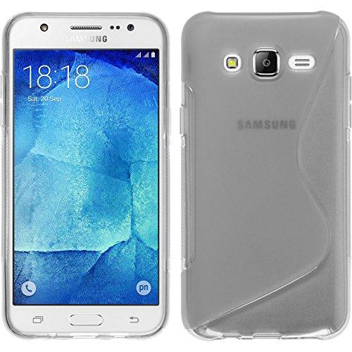 Funda de silicona para Samsung Galaxy J7 - S-Style transparente - Cover...