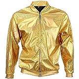 Mixed 70s 80s 90s Quality Metallic Shiny Rave Bomber Jacket Hologram Festival Fancy Dress