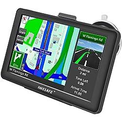 GPS Voiture Navigation 7 Pouces HD écran Tactile Multi-Langue Voice Play Europe 52 Carte Pays Mise à Jour Utilisation Gratuite dans Voiture et Camion
