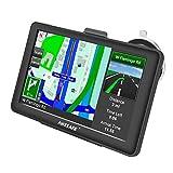 GPS Voiture Navigation 5 Pouces HD écran Tactile Multi-Langue Voice Play Europe 52 Carte Pays Mise à Jour Utilisation