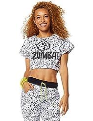 Zumba Fitness Be Bold Bubble Crop - Camiseta sin mangas para mujer, color blanco, talla XS