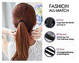 Hanmei 8 mm schwarz elastische Haargummis Bänder Strick Pferdeschwanzhalter Stirnband für Frauen Mädchen (100 Stück)