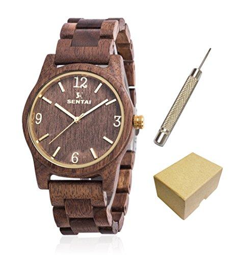montres-en-bois-pour-hommes-et-femmes-en-bois-massif-naturel-walnut-boite-de-montre-et-bracelet-avec