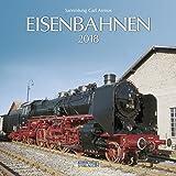 Eisenbahnen 2018: Broschürenkalender mit Ferienterminen. Format: 30 x 30 cm