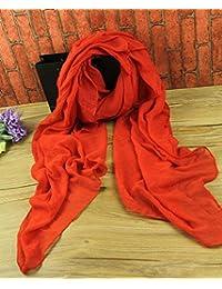 c7df96d8dc72 TIANLU Foulard en coton de couleur unie en coton de couleur solide
