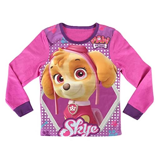 ff6dc1e017 PAW PATROL SKYE pijama polar manga larga 2 piezas Rosa para niña ...