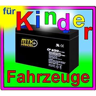 MTK-Handel AKKU 6V 12Ah BATTERIE für KINDERFAHRZEUGE z.B. PEG PEREGO