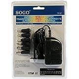 Transformador universal de corriente AC/DC 500 mA. Salida CC 3/4,5/6/7,5/9/12 V - 7 Clavijas - Modelo SOGO SS-41