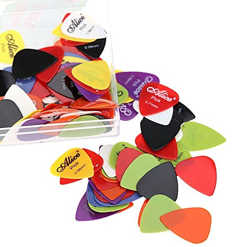 Alice Guitar Picks - 20pcs Mix set of Alice 0.58mm/0.71mm/0.81mm/0.96mm/1.20mm/1.50mm Guitar Picks Plectrums. Guitar Pick  available at amazon for Rs.199