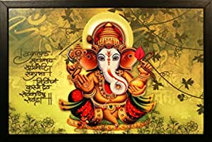 PAF written in a Frame UV Textured Framed Paintings of Lord Ganesha Size 35 x 2 x 50 cm