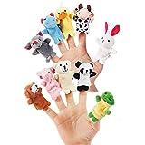 Etelux Set de 10 marionetas de dedo de animales