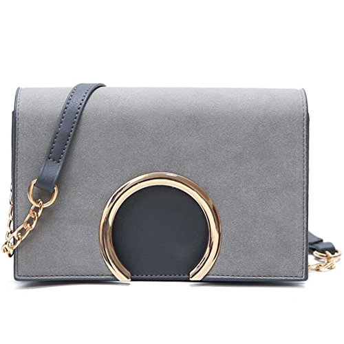 HQYSS Damen-handtaschen Einfache wilde Frauen-leichter Schulter-Kurier-Handtaschen-Normallack PU-lederner Tote-Beutel-Handtasche light gray
