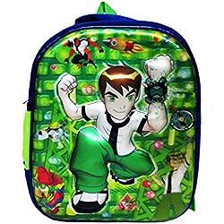 Ben 10, 3D school bag waterproof blue,Green/multcolor eh155