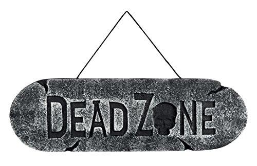 Boland 72047 Décoration Cartel Dead Zone, gris, 48 x 15 cm